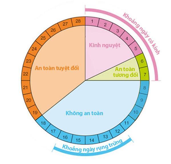 cách tính ngày rụng trứng chu kỳ 30 ngày