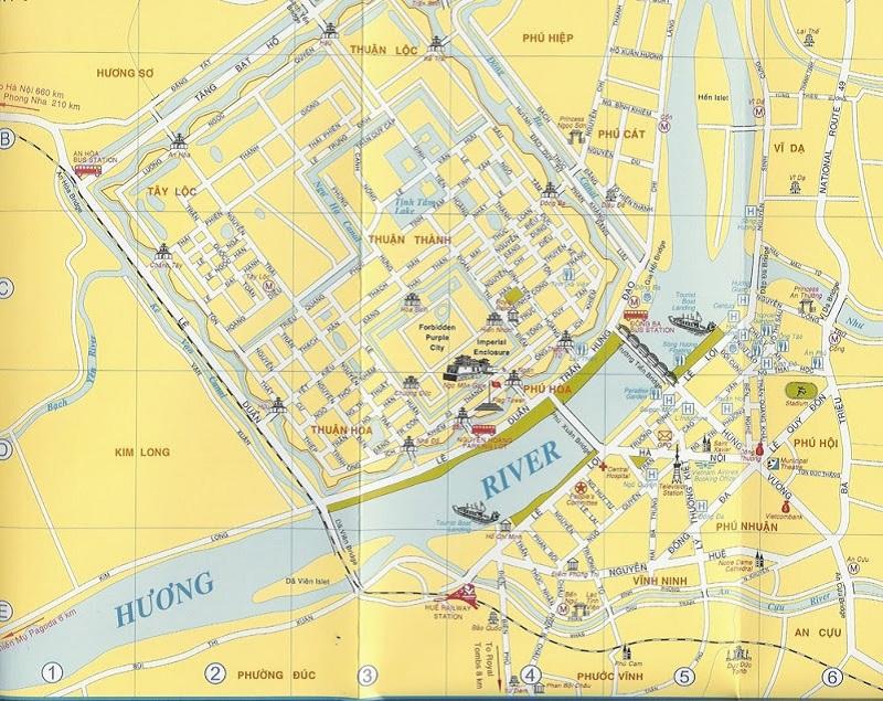 Bản đồ du lịch Huế chi tiết
